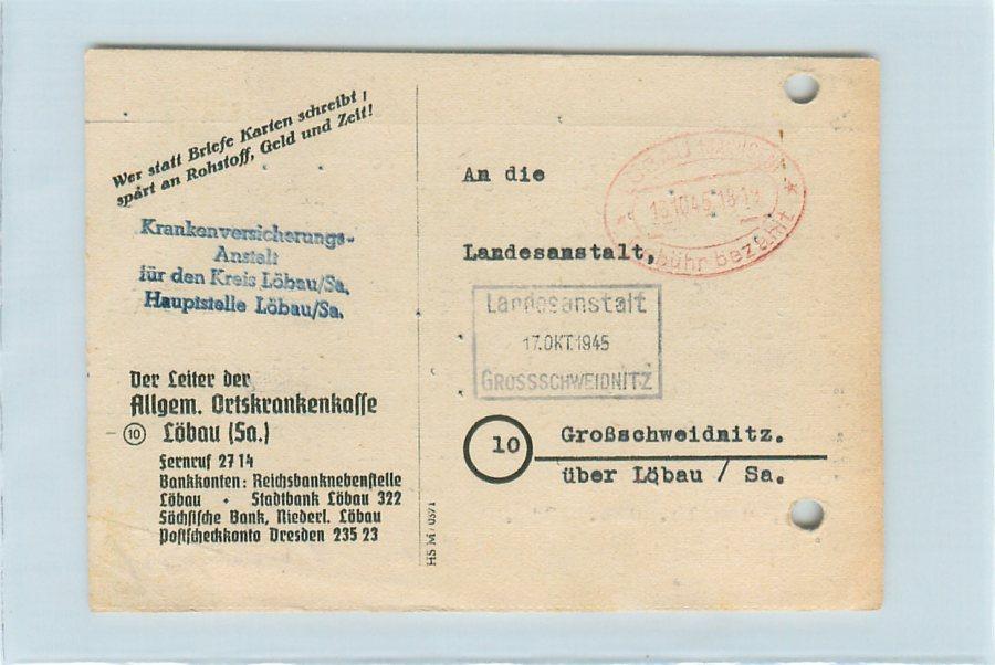 i6515 postkarte l bau geb hr bezahlt 1945 ebay. Black Bedroom Furniture Sets. Home Design Ideas
